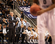 BYU head coach Dave Rose looks on during forward Brandon Davies' free throws during the first half of the NCAA basketball game between BYU and Cal State Northridge, Saturday, Nov. 24, 2012.