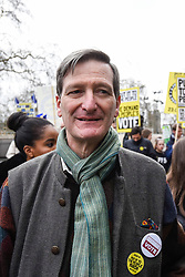 "© Licensed to London News Pictures. 23/03/2019. LONDON, UK. Dominic Grieve, MP for Beaconsfield, takes part in the march. Thousands of people take part in the ""Put It To The People March"", marching from Park Lane to Parliament Square on what was supposed to be six days before the UK was due to leave the EU, before an extension to the departure date was given.  Protesters demand that the public is given a final say on Brexit as support for the Prime Minister's withdrawal plan continues to recede.  Photo credit: Stephen Chung/LNP"