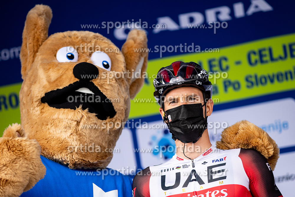 Jan POLANC of UAE TEAM EMIRATES and mascot of Vzajemna during the 5th Stage of 27th Tour of Slovenia 2021 cycling race between Ljubljana and Novo mesto (175,3 km), on June 13, 2021 in Slovenia. Photo by Matic Klansek Velej / Sportida