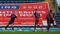 Leeds United's Kalvin Phillips celebrates scoring his side's second goal from a free kick<br /> <br /> Photographer Alex Dodd/CameraSport<br /> <br /> The EFL Sky Bet Championship - Blackburn Rovers v Leeds United - Saturday 4th July 2020 - Ewood Park - Blackburn<br /> <br /> World Copyright © 2020 CameraSport. All rights reserved. 43 Linden Ave. Countesthorpe. Leicester. England. LE8 5PG - Tel: +44 (0) 116 277 4147 - admin@camerasport.com - www.camerasport.com