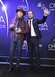 Keith Urban at the 52nd Annual CMA Awards at the Bridgetone Arena on November 14, 2018 iin Nashville, Tennessee. (Photo by Scott Kirkland/PictureGroup). 14 Nov 2018 Pictured: Brothers Osborne. Photo credit: Scott Kirkland/PictureGroup / MEGA TheMegaAgency.com +1 888 505 6342