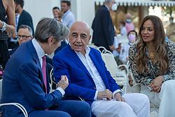 ADRIANO GALLIANI E HELGA COSTA  <br /> INAUGURAZIONE CALCIOMERCATO 2021 GRAND HOTEL RIMINI