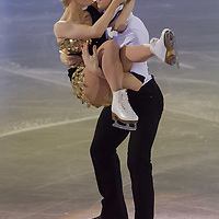 Penny Coomes and Nicholas Buckland of Germany bronze medalist in the Ice Dance competition perform during the gala exhibition of the ISU European Figure Skating Championships in Budapest, Hungary on January 19, 2014. ATTILA VOLGYI