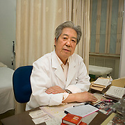 Dr. Wang Juyi in his clinic in Beijing, China where he still practices traditional Chinese medicine.