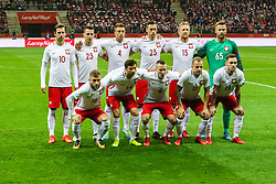 November 10, 2017 - Warsaw, Poland - Poland team pose before the international friendly match between Poland and Uruguay at National Stadium on November 10, 2017 in Warsaw, Poland. (Credit Image: © Foto Olimpik/NurPhoto via ZUMA Press)