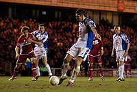 Photo: Jed Wee.<br /> Middlesbrough v Nuneaton Borough. The FA Cup. 17/01/2006.<br /> <br /> Nuneaton's Gez Murphy scores a second consolation goal from the penalty spot.