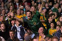 Photo: Glyn Thomas.<br />Birmingham City v Norwich. Carling Cup.<br />26/10/2005.<br />A Norwich fan cheers on his team.