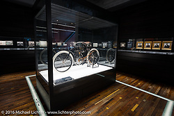 1903 Harley-Davidson motorcycle on display at the Harley-Davidson Museum during the Milwaukee Rally. Milwaukee, WI, USA. Saturday, September 3, 2016. Photography ©2016 Michael Lichter.