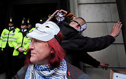 © Licensed to London News Pictures. 15/05/2012. London,Britain.Occupy London members protest against against the finance industry .  Photo credit : Thomas Campean/LNP