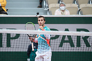 HUGO GASTON (FRA) celebrated a game winned during the Roland Garros 2020, Grand Slam tennis tournament, on October 2, 2020 at Roland Garros stadium in Paris, France - Photo Stephane Allaman / ProSportsImages / DPPI