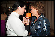 MARINA ABRAMOVIC; PATRIZIA SPADAFORA, Lisson Gallery reception at Chiltern Firehouse after the openings of work by Marina Abramovic: White Space and Nathalie Djurberg & Hans Berg: The Gates of the Festival, 15 September 2014