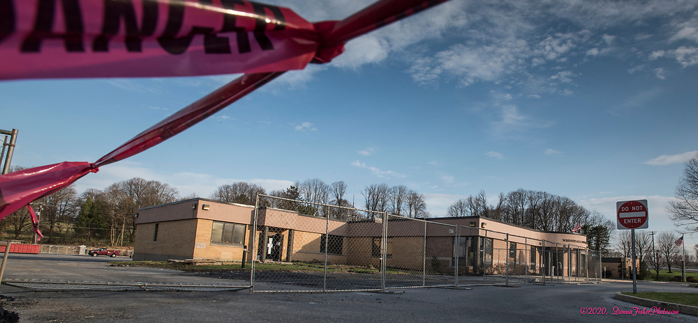 Whitehall Township Municipal Building and surrounding property are undergoing major renovations. Scenes along MacArthur Road in Whitehall Twp., Lehigh County, Pa.. Picture made April, 2020.<br />  Donna Fisher Photography, LLC