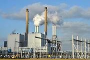 Nederland, Rotterdam, 3-3-2015Maasvlakte. De elektriciteitscentrale van E-ON.  Kolencentrale, co2 uitstoot, kolen, kolengestookte, eon, the new land.Foto: Flip Franssen/HH