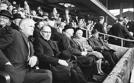 Supporters all set the Galway v. Meath All Ireland Senior Gaelic Football Final, 25th September 1966. Galway 1-10 Meath 0-7.