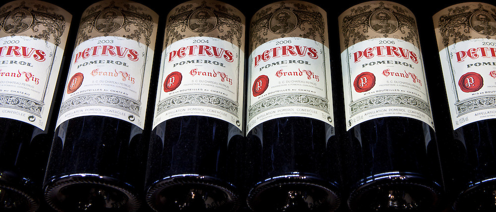 Chateau Petrus fine wine vintage 2000, 2003, 2004, 2006, 2007 Grand Vin on sale in St Emilion, Bordeaux, France