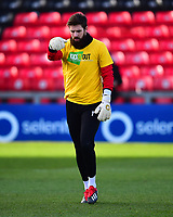 Lincoln City's Josh Vickers during the pre-match warm-up<br /> <br /> Photographer Andrew Vaughan/CameraSport<br /> <br /> The EFL Sky Bet League Two - Lincoln City v Northampton Town - Saturday 9th February 2019 - Sincil Bank - Lincoln<br /> <br /> World Copyright © 2019 CameraSport. All rights reserved. 43 Linden Ave. Countesthorpe. Leicester. England. LE8 5PG - Tel: +44 (0) 116 277 4147 - admin@camerasport.com - www.camerasport.com