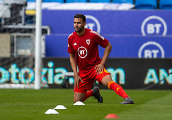 CARDIFF, WALES - Sunday, September 6, 2020: Wales' Hal Robson-Kanu during the pre-match warm-up before the UEFA Nations League Group Stage League B Group 4 match between Wales and Bulgaria at the Cardiff City Stadium. (Pic by David Rawcliffe/Propaganda)