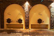 concrete fermentation tanks with vaulted design Bodega Castillo Viejo Winery, Las Piedras, Canelones, Uruguay, South America