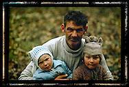 Family in Gorj, Romania