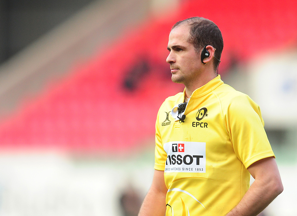 Referee Alexandre Ruiz<br /> <br /> Photographer Kevin Barnes/CameraSport<br /> <br /> European Rugby Champions Cup Pool 3 - Scarlets v Saracens - Sunday 15th January 2017 - Parc y Scarlets - Llanelli<br /> <br /> World Copyright © 2016 CameraSport. All rights reserved. 43 Linden Ave. Countesthorpe. Leicester. England. LE8 5PG - Tel: +44 (0) 116 277 4147 - admin@camerasport.com - www.camerasport.com