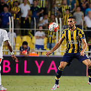 Fenerbahce's Mehmet Topal (R) and Shakhtar Donetsk's Fred (L) during their UEFA Champions league third qualifying round first leg soccer match Fenerbahce between Shakhtar Donetsk at the Sukru Saracaoglu stadium in Istanbul Turkey on Tuesday 28 July 2015. Photo by Aykut AKICI/TURKPIX