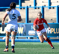 Elinor Snowsill of Wales<br /> <br /> Photographer Simon King/Replay Images<br /> <br /> Six Nations Round 3 - Wales Women v England Women - Sunday 24th February 2019 - Cardiff Arms Park - Cardiff<br /> <br /> World Copyright © Replay Images . All rights reserved. info@replayimages.co.uk - http://replayimages.co.uk