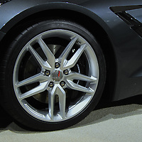 """""""2014 Chevy Corvette Wheel""""<br /> <br /> The all new 2014 Chevrolet Corvette Stingray! Wheel, logo, vent, and stingray symbol!<br /> <br /> Cars and their Details by Rachel Cohen"""