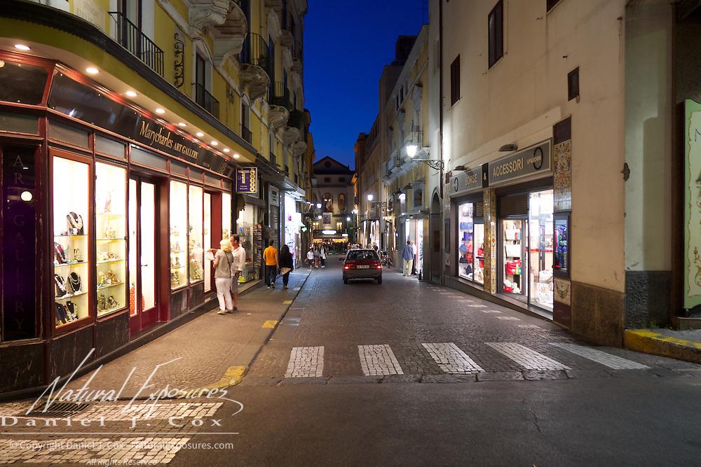Streets scenes in Sorrento, Italy