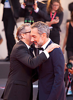 Venice, Italy, 31st August 2019, Joaquin Phoenix and director Todd Phillips at the gala screening of the film Joker at the 76th Venice Film Festival, Sala Grande. Credit: Doreen Kennedy