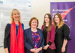 Pictured: Cathy Richards, Lead Clinician, Ms Watt, Sarah Taylor, Research Nurse TEC project andf Dr Fiona Duffy, Consultant Clinical Psychologist<br /> Today Mental Health Minister Maureen Watt vsiisted the Royal Hospital in Edinburgh to help aunch the online resource aimed at young people in this Eating Disorders Awareness Week, While thee she met two two Beat ambassadors, Constance Barter and Ballari Conner<br /> <br /> Ger Harley   EEm 28 Fbruary 2018