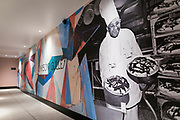 A mural commemorating Madison chef Carson Gulley inside Hotel Indigo along East Washington Avenue in Madison, WI on Wednesday, April 17, 2019.