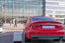 10.03.2015, Audi Forum, Ingolstadt, GER, AUDI AG Jahrespressekonferenz, im Bild Ausstellung Audi auf der Audi Piazza vor Audi-Museum S5 // during AUDI AG Annual Press Conference at the Audi Forum in Ingolstadt, Germany on 2015/03/10. EXPA Pictures © 2015, PhotoCredit: EXPA/ Eibner-Pressefoto/ Strisch<br /> <br /> *****ATTENTION - OUT of GER*****