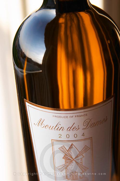 Moulin des Dames Bergerac sec Famille de Conti, detail of label Bergerac Dordogne France