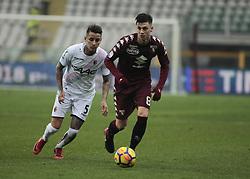 January 6, 2018 - Turin, Italy - Daniele Baselli during Serie A match between Torino v Bologna, in Turin, on January 6, 2018  (Credit Image: © Loris Roselli/NurPhoto via ZUMA Press)