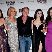 Lara Lemon, Nicole Evans, Michael Flatley, Raha Rahbari and Mary Louise Kelly attend Blackbird - World Premiere with Michael Flatley at May Fair Hotel, London, UK. 28th September 2018.