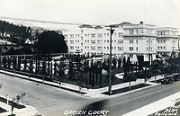 1927 Postcard of Garden Court Apts. on Hollywood Blvd.