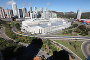 Belo Horizonte_MG, Brasil.<br /> <br /> Imagem aerea do BH shopping em Belo Horizonte ao fundo bairro Belvedere, Minas Gerais.<br /> <br /> Aerial view of BH shopping in Belo Horizonte in the background the Belvedere neightborhood, Minas Gerais.<br />  <br /> Foto: LEO DRUMOND / NITRO
