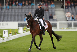Ciaran Glynn on November Night in the dressage during day two of the 2019 Mitsubishi Motors Badminton Horse Trials at The Badminton Estate, Gloucestershire.