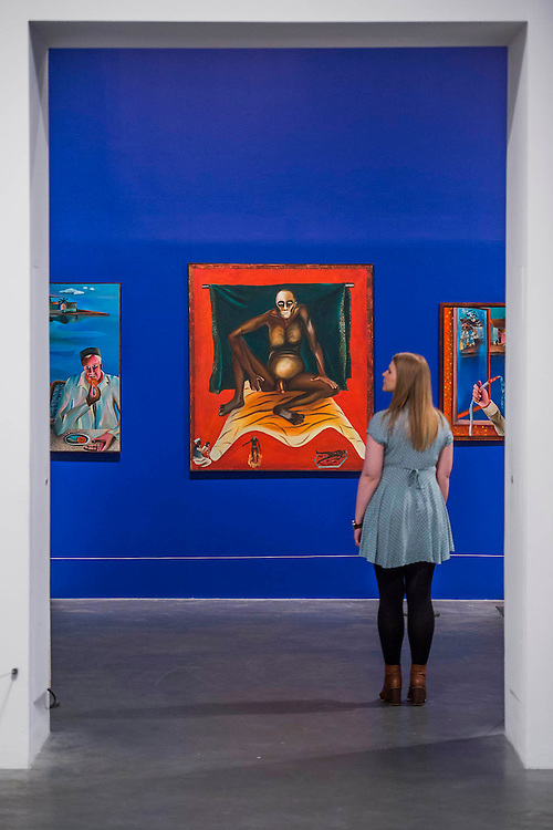 Hathayyogi 1978 - Bhupen Khakhar: You Can't Please All at Tate Modern. It is the first international retrospective of the Indian artist since his death. He was known for his vibrant, bold works that examine class and sexuality. The Exhibition runs from 1 June – 6 November 2016.