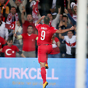 Turkey's Umut Bulut celebrate his goal during their UEFA Euro 2016 qualification Group A soccer match Turkey betwen Czech Republic at Sukru Saracoglu stadium in Istanbul October 10, 2014. Photo by Aykut AKICI/TURKPIX
