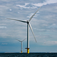 The Rampion offshore wind farm near Brighton and Worthing has more than 100 turbines.