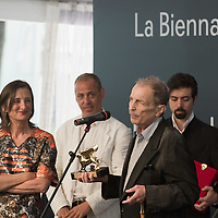 VENICE, ITALY - JUNE 04: ArtistFranz Vest is awarded a Golden Lion forLifetime Achievement at the Official Awards  of the 54th International Art Exhibition on June 4, 2011 in Venice, Italy. This year's Biennale is the 54th edition and will run from June 4th until 27 November.