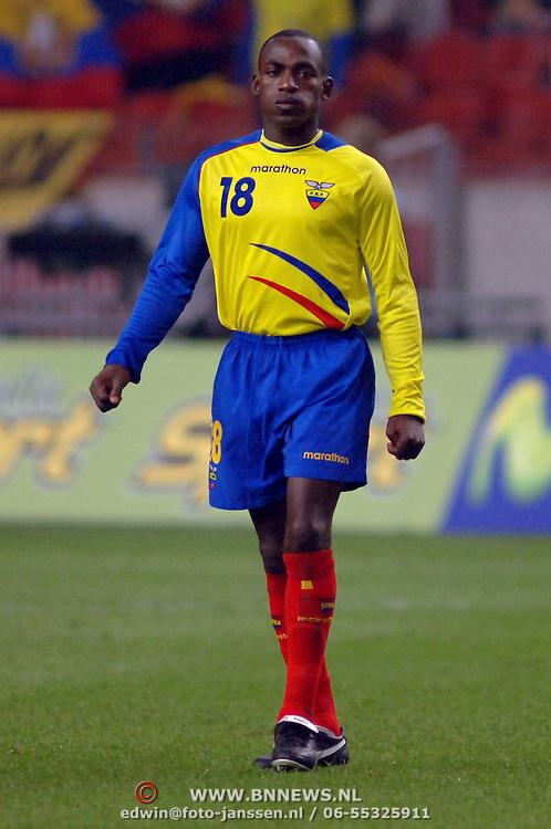 NLD/Amsterdam/20060301 - Voetbal, oefenwedstrijd Nederland - Ecuador, Neicer Reasco
