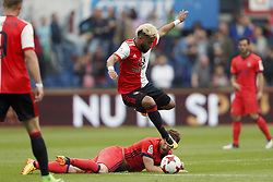 (L-R) David Zurutuza of Real Sociedad de Futbol, Tonny Vilhena of Feyenoord during the pre-season friendly match between Feyenoord Rotterdam and Real Sociedad at the Kuip on July 29, 2017 in Rotterdam, The Netherlands