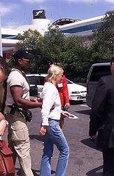 Jul 16, 2001; Rome, Italy; North American Rights ONLY! British pop star GERI HALLIWELL arrives @ Leonardo da Vinci International airport in Rome. .  (Credit Image: Remi Agency/ZUMAPRESS.com)