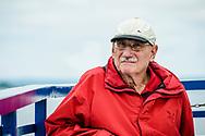 Old man, interesting expression, Georgian Bay, Midway, Ontario CA