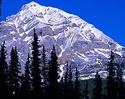 Folded Mountain, Sentinel Range, Northern Rocky Mountains, Muncho Lake Provincial Park, British Columbia, Canada.