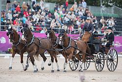 Geerts Glenn, BEL, Dash, De Solist, Erdball, Scampolo<br /> FEI European Driving Championships - Goteborg 2017 <br /> © Hippo Foto - Stefan Lafrenz