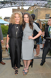 PICTURE SHOWS:-Left to right, KELLY HOPPEN and her daughter NATASHA CORRETT.<br /> Tuesday 14th April 2015 saw a host of London influencers and VIP faces gather together to celebrate the launch of The Ivy Chelsea Garden. Live entertainment was provided by jazz-trio The Blind Tigers, whilst guests enjoyed Moët & Chandon Champagne, alongside a series of delicious canapés created by the restaurant's Executive Chef, Sean Burbidge.<br /> The evening showcased The Ivy Chelsea Garden to two hundred VIPs and Chelsea<br /> residents, inviting guests to preview the restaurant and gardens which marry<br /> approachable sophistication and familiar luxury with an underlying feeling of glamour and theatre. The Ivy Chelsea Garden's interiors have been designed by Martin Brudnizki Design Studio, and cleverly combine vintage with luxury, resulting in a space that is both alluring and down-to-earth.