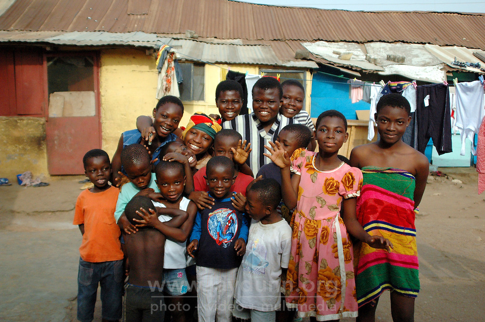 Ghana, Accra, 2007. In Kokomlemle, Ghanaian pride shows most clearly in this neighborhood's good cheer.